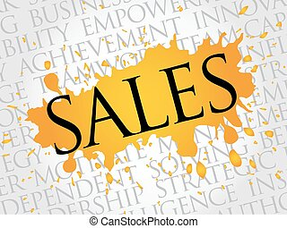 vendite, parola, nuvola