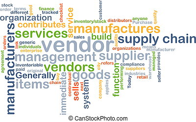 Vendor background concept - Background concept wordcloud...
