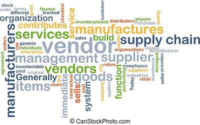Background concept wordcloud illustration of vendor