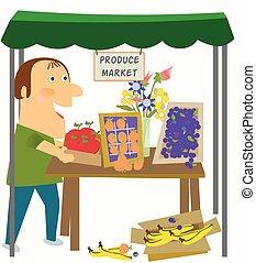 Vendor in the Produce Market