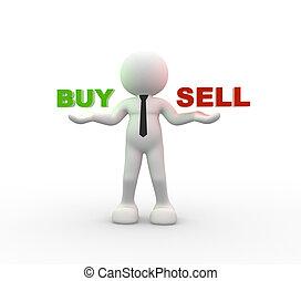 vendre, achat, ou