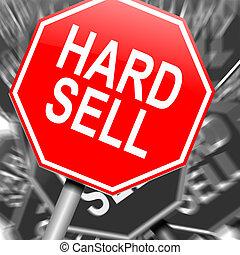 vendre, concept., dur