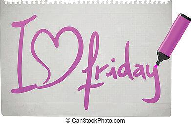 vendredi, amour