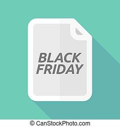 vendredi, document, noir, ombre, long, texte