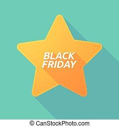 vendredi, noir, étoile, ombre, long, texte