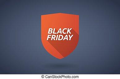 vendredi, noir, bouclier, ombre, long, texte