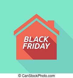 vendredi, noir, maison, ombre, long, texte