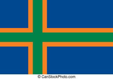 vendsyssel, área, bandeira
