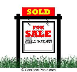 venduto, casa, vendita