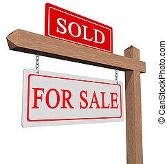 venduto, segno vendita