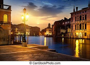 venecia, anochecer