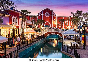 venecia, compras, hua, cha-am, lugar, estilo, venezia, hin.,...