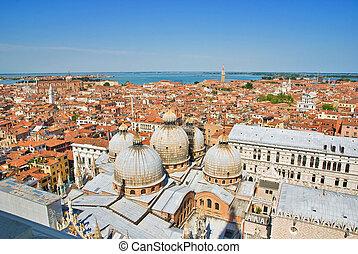 venecia italia, san, di, -, campanile, cityscape, marco., ...