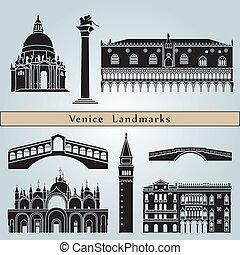 venecia, señales, y, monumentos