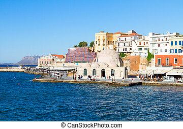 veneciano, turco, yiali, mezquita, habour, tzami, chania