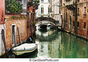 Venedig, gammal, arkitektur,  deatil