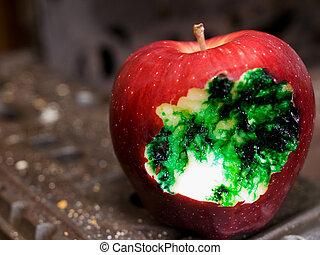 veneno, manzana