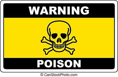 veneno, sinal perigo, aviso