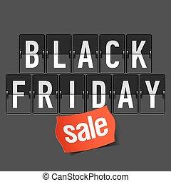 venerdì, nero, vendita