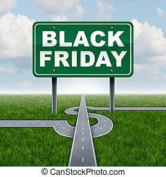venerdì, nero, vendite, segno