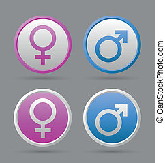 venere, e, marte, femmina, e, maschio, simboli