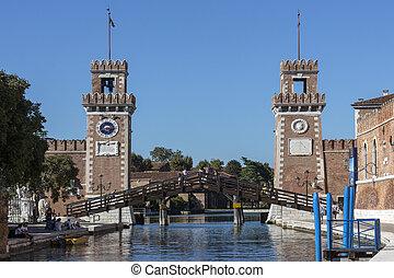 Venetian Arsenal - Venice - Italy - Entrance to the Venetian...