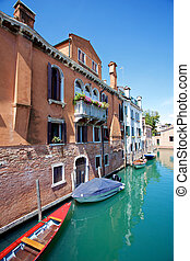 Venetian Homes by the Canal