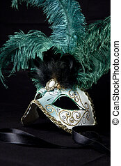 a typical venetian carnival mask