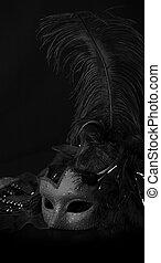 Venetian Mask against black background