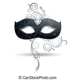 Venetian Mask - Vector Illustration of a beautiful Venetian...