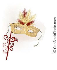 venetian mask - vector illustration of a carnivale mask on...