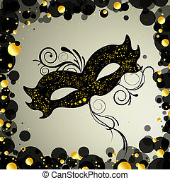 Venetian mask - vector illustration of an elegant venetian...