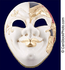 Venetian mask on a black background