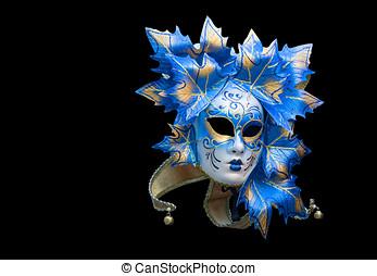 Venetian mask on black