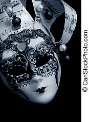 Venetian Mask over black - Venetian mask over black...