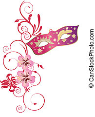 Venetian mask - vector illustration of a carnivale mask and ...