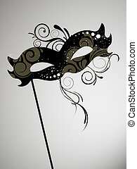 Venetian mask - vector illustration of an elegant venetian ...