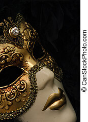 Venetian Mask - Venetian mask with Diamond.