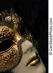 Venetian Mask - Venetian mask with Diamond.