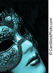 Venetian Mask - Venetian mask with diamonds.