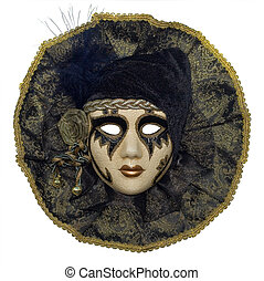 Venetian mask with jewelry