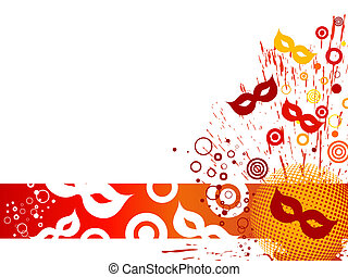 Venetian party - Vector illustration of carnival mask on a...