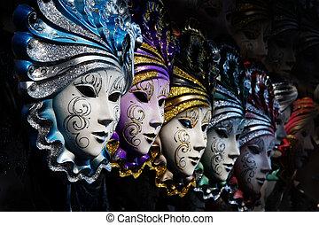 venetiansk, masker