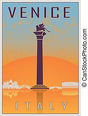 venetie, ouderwetse , poster