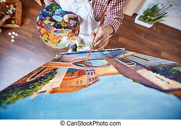 venetie, schilderij