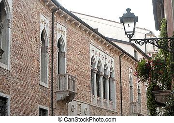 (veneto, edificios, histórico, vicenza, italy):