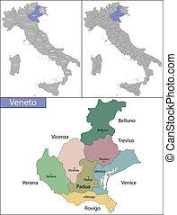 Veneto is one of the twenty administrative regions of Italy, in the northeast of the country