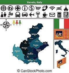 veneto, italie, régions