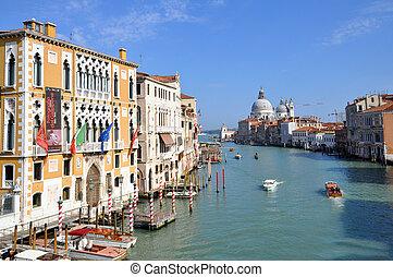 Venezia Canal Grande - Canal Grande and Santa Maria della ...