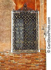 venezia, finestra, particolare architettonico